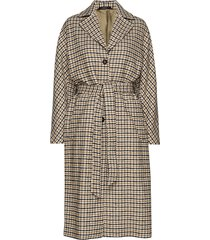 maebel checked coat trenchcoat lange jas bruin morris lady