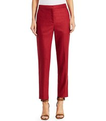 poppy wool cropped trousers