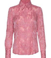 3165 - lotte puff blouse lange mouwen roze sand