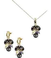 conjunto rafaela dorado con swarovski® joyas montero