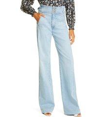 women's veronica beard vira wide leg jeans