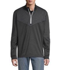 stand-collar long-sleeve sweatshirt