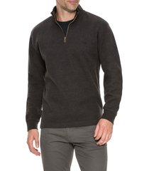 men's rodd & gunn alton ave regular fit pullover sweatshirt, size small - brown