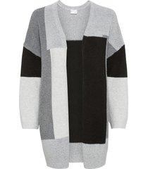 cardigan lungo color block (grigio) - bodyflirt