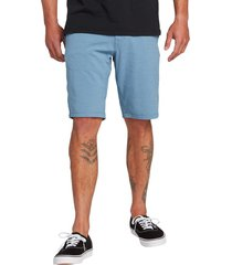 men's volcom hybrid shorts, size 40 - blue