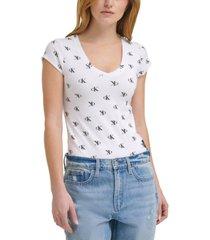 calvin klein jeans logo-print bodysuit
