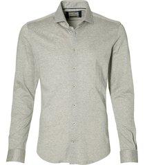 hensen overhemd - body fit - grijs