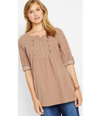 lange corduroy blouse, 3/4 mouw