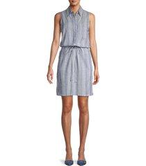 supply & demand women's bethenny shirt dress - chambray - size l