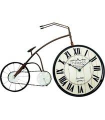 relógio bicicleta de mesa 38x58cm kasa ideia