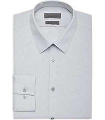 calvin klein gray mist dot extreme slim fit dress shirt