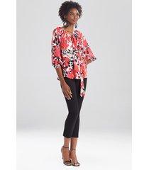 natori jaguar peasant blouse, women's, size l