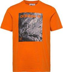 adv tee t-shirts short-sleeved orange adidas originals