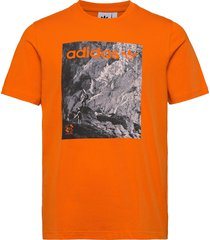 adv tee t-shirts short-sleeved orange adidas originals