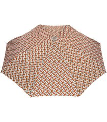 burberry guarda-chuva com estampa - laranja
