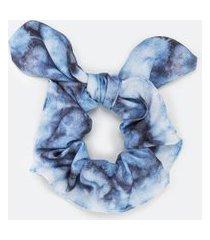 scrunchie com laço estampa tie dye   accessories   azul   u
