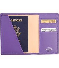 bi-fold leather passport case