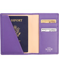 bi-fold leather passport case