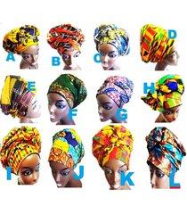 "african fabric ankara wax prints headtie head wrap 20"" x 71"" inch - choose"