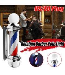 22 barber shop pole azul blanco rojo rotación de luz de rayas inscripción hair salon - enchufe de la ue