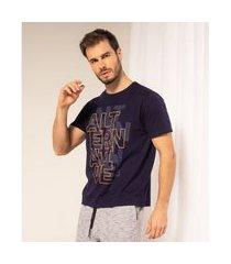 camiseta alternative masculina adulto rovitex azul
