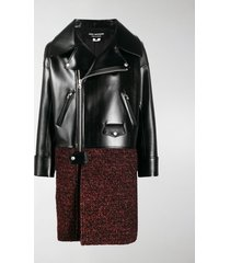junya watanabe panelled biker coat