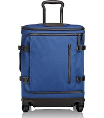 men's tumi 'tahoe - edgewood' continental wheeled carry-on - blue