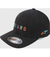 gorra negro-multicolor alpinestars