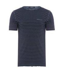 t-shirt masculina listrada - azul