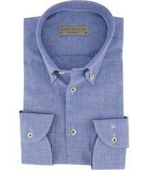 john miller overhemd blauw tailored fit