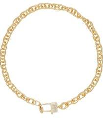ettika throw away the key gold - tone chain necklace