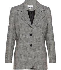 suiting blazer colbert grijs ganni