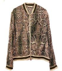 passion-jacket bomber jacket slangenprint