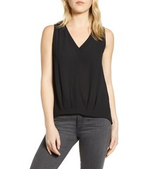 women's chelsea28 sleeveless check tank, size x-large - black