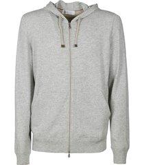 brunello cucinelli full zip plain hoodie