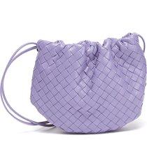 intrecciato leather drawstring mini bag