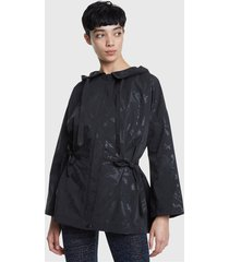 parka desigual studio negro - calce regular