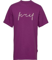 slope t-shirt t-shirts short-sleeved lila forét