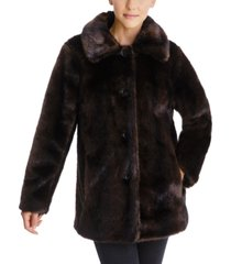 anne klein faux-fur mink coat