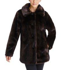 anne klein faux-fur mink coat