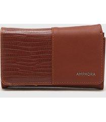 billetera marrón amphora