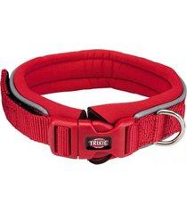trixie collar premium perros neopreno rojo talla m - l