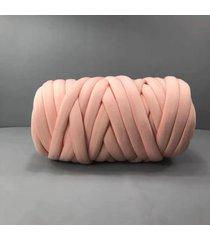 500g chunky hilado diy hace punto de punto manta suave línea gruesa de algodón banda de ganchillo - chile rojo