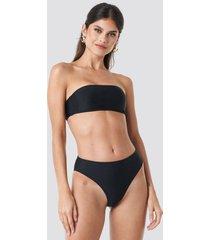 na-kd swimwear high waist bikini panty - black