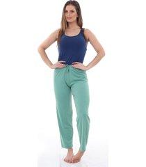pijama algodão mechler calça verde