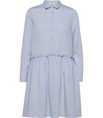 organic cotton dress ls kort klänning blå rosemunde