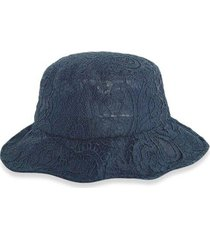 lace solid breathable bucket hat