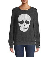 graphic skull sweatshirt