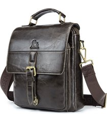 vera pelle vintage shoulder borsa crossbody borsa for men
