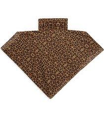 bindya women's leopard-print mask scarf - brown